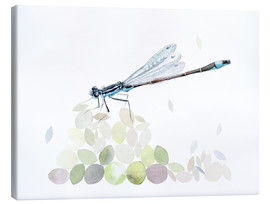 Canvas  Dragonfly Building - Verbrugge Watercolor