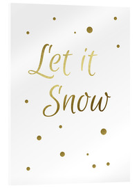 Acrylic print  Let it Snow - Finlay and Noa