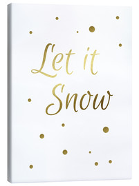 Canvas print  Let it Snow - Finlay and Noa