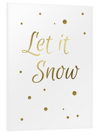 Foam board print  Let it Snow - Finlay and Noa