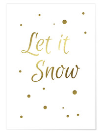 Premium poster Let it Snow