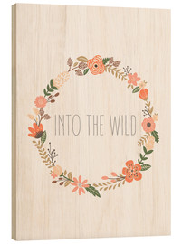 Wood print  Into The Wild - Finlay and Noa