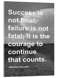 Acrylic print  Winston Churchill on Courage - Finlay and Noa