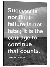 Aluminium print  Winston Churchill on Courage - Finlay and Noa
