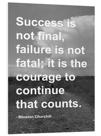 Foam board print  Winston Churchill on Courage - Finlay and Noa