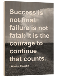Wood print  Winston Churchill on Courage - Finlay and Noa