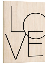 Wood print  Love - Finlay and Noa