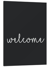 Aluminium print  Welcome - Finlay and Noa