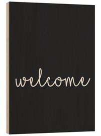 Wood print  Welcome - Finlay and Noa