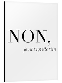 Aluminium print  Non, je ne regrette rien - No, I have no regrets - Finlay and Noa