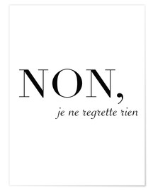 Premium poster  Non, je ne regrette rien - No, I have no regrets - Finlay and Noa