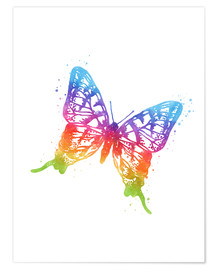 Premium poster Butterfly watercolor