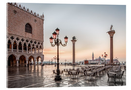 Acrylic print  St. Mark's square in Venice during sunrise - Dieter Meyrl