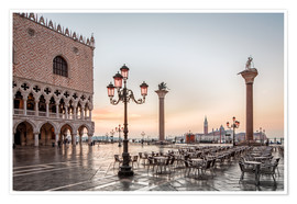 Premium poster St. Mark's square in Venice during sunrise