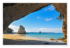 Premium poster Cathedral Cove