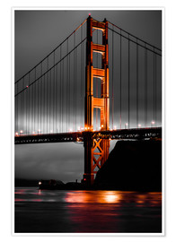 Poster  Golden Gate - Denis Feiner