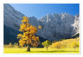 Premium poster Autumn in Alps