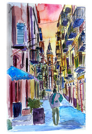Acrylic glass  Fascinating Palermo Sicily Italy Street Scene - M. Bleichner