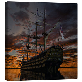 Canvas print  HMS Victory Square - Peter Weishaupt