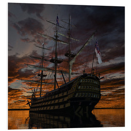 Foam board print  HMS Victory Square - Peter Weishaupt