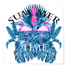 Premium poster SUMMER TIME BLUE