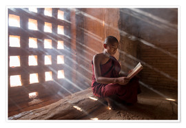 Jan Christopher Becke - Zen monk while reading a book