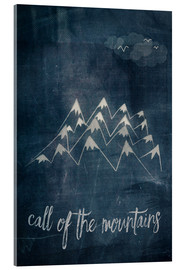 Acrylic glass  call of the mountains - Sybille Sterk