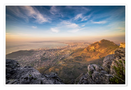 Premium poster  Table Mountain View - Salvadori Chiara