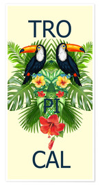 Premium poster new tropic BIRDS