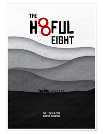 Premium poster The Hateful Eight - Hateful 8 - Minimal Tarantino Movie Film Alternative Fanart
