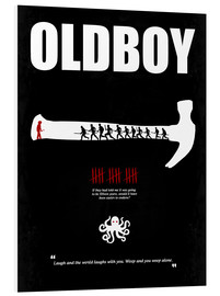 Foam board print  oldboy - Minimal Film Movie Poster Alternative - HDMI2K