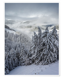 Premium poster  Winter in Valle Aurina (South Tyrol, Italy) - Christian Müringer