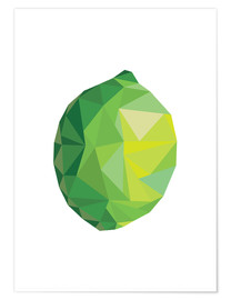 Premium poster Polygon lime