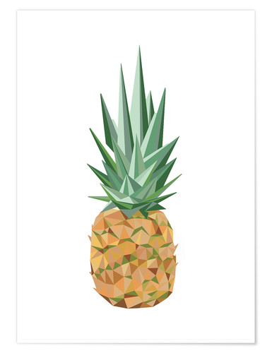Premium poster Polygon pineapple