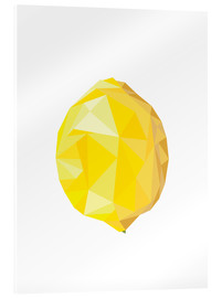 Acrylic print  Polygon lemon - Finlay and Noa