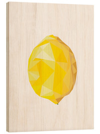 Wood print  Polygon lemon - Finlay and Noa