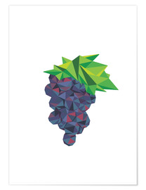 Premium poster Polygon grapes