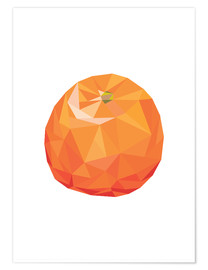 Premium poster Polygon orange