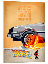 Acrylic print  Back to the Future - HDMI2K