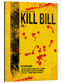 Alu-Dibond  Kill Bill - Tarantino Minimal Film Movie Alternative - HDMI2K