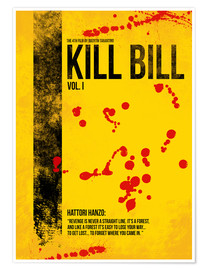 Poster  Kill Bill - Tarantino Minimal Film Movie Alternative - HDMI2K