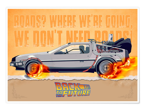 Premium poster Back to the Future - DeLorean DMC-12 Alternative