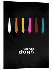 Acrylic glass  Reservoir Dogs - Minimal Film Movie Tarantino Alternative - HDMI2K
