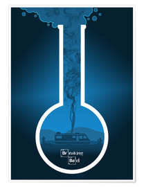 Premium poster Breaking Bad - Fanart version in blue Alternative