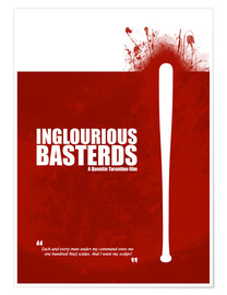 Premium poster Inglourious Basterds - Minimal Movie Film Fanart - Tarantino Alternative