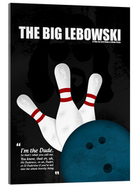 Acrylic glass  The Big Lebowski - Minimal Movie Film Cult Alternative - HDMI2K