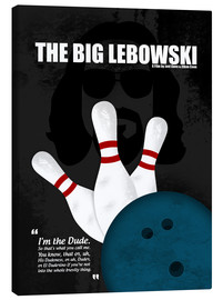 Canvas  The Big Lebowski - Minimal Movie Film Cult Alternative - HDMI2K