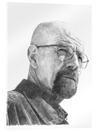 Acrylic print  WALTER WHITE - pencil hommage - Cultscenes