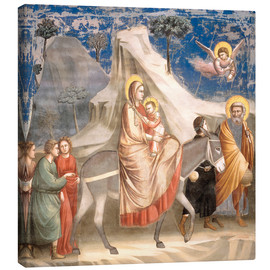Canvas print  The Flight to Egypt - Giotto di Bondone