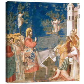 Canvas  The Entry into Jerusalem - Giotto di Bondone